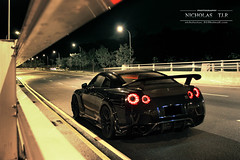 Nissan GTR (Nicholas TJ.R) Tags: skyline night singapore nissan shot edition wald modded gtr