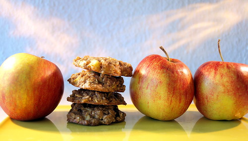 Äpfel und Cookies