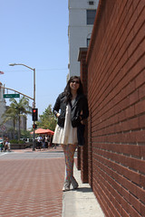 027 (Ooh Fancy That) Tags: california city trees friends people usa brick nature sunshine fashion female portraits buildings walking asian fun gold spring women scenery colorful downtown purple style historic looks laughter orangecounty santaana breeze lookbook clearskies oohfancythat