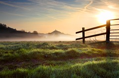 Glastonbury Tor Spring Dawn (midlander1231) Tags: sky sun mist nature clouds sunrise landscape dawn glastonbury somerset westcountry glastonburytor earlymorningmist somersetlevels mywinners