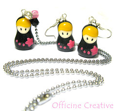 First Giveaway - Officine Creative (OfficineCreative) Tags: necklace dolls handmade collanina polymerclay fimo gift giveaway earrings charms babushka matrioska russiandolls premio cernit poupe orecchini matryoshkas blogcandy officinecreative pouperusses