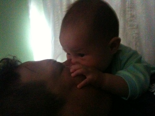 Eating Dad's face