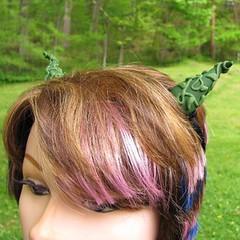 Green Vine Forest Fairy Costume Horns