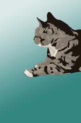 Tallulah (kaloki) Tags: oneaday animal cat tabby vector vexel grpahic