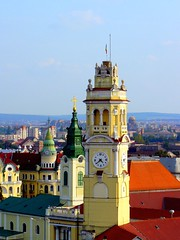 Romania Transylvania Oradea Towers (MarculescuEugenIancuD60Alaska) Tags: tower clock romania transylvania oradea supershot nagyvrad saariysqualitypictures transylvaniaoradea