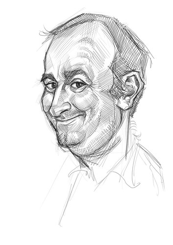 digital sketch of Gerardo Oroz Gomez - 2