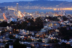 San Francisco Heights (A Sutanto) Tags: sf sanfrancisco california ca city longexposure blue houses light usa night america bay twilight dusk hill hour baybridge residential sfbay onerincon