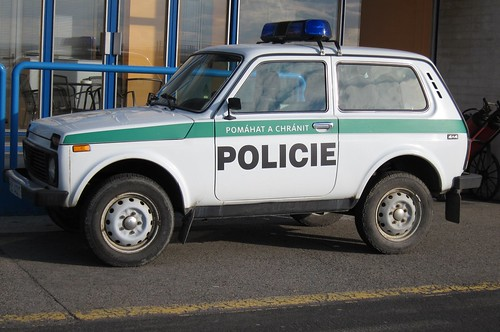 Police car at Ostrava Airport