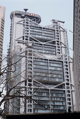 HSBC Building by Norman Foster (ScottLarsen) Tags: china film architecture hongkong scans central lord norman architect foster normanfoster slides engineer arup pritzker lordnormanfoster hongkongandshanghaibankingcorporation wimpeyconstruction