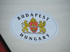 Budapest Sticker in City Creek Canyon