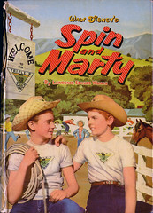 Spin and Marty_cover_tatteredandlost (T and L basement) Tags: disney ephemera 1956 childrensbook mickeymouseclub childrensbookillustration spinandmarty whitmanpublishing tonysgroi lawrenceedwardwatkin