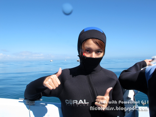 me in thick wetsuit ready for shark dive