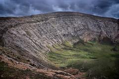 Volcano (chipsmitmayo) Tags: vacation holiday clouds island volcano nikon lanzarote canarias blanca crater caldera islas hdr wanderung vulkan timanfaya d80 daramtic