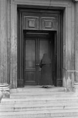 Sister at the door (riccardo_mottola) Tags: leica venice sister nun venezia m2 ilford hp4 gradual summicron502 st20
