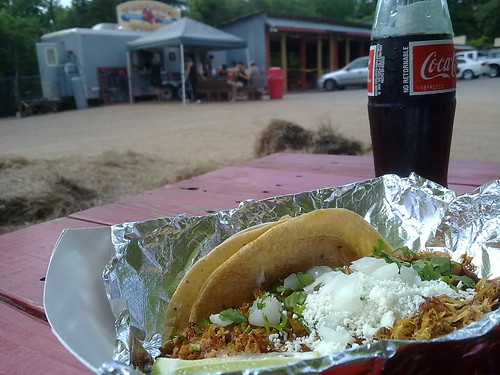 Green Chili Pork Taco and Mexican Coke