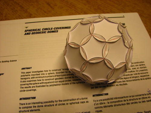 Spherical circle-coverings and geodesic by fdecomite, on Flickr