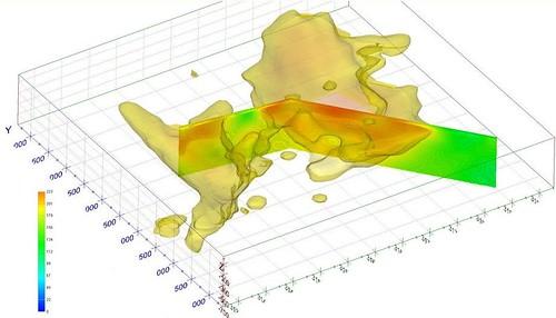 3DGeoSeis Volumetric Model of predicted cooper deposit in Namibia