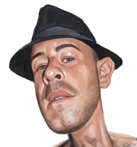 digital caricature of Erick Lebreton - 4