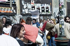 The Torino Pillow Fight ( massimo ankor) Tags: torino fun funny action candid crowd photojournalism pillow unposed pillowfight disease pillowfightclub homophobia battaglia jungla nycsocial fecalface cuscini homophobiatheworstdisease