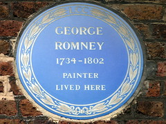Photo of George Romney blue plaque