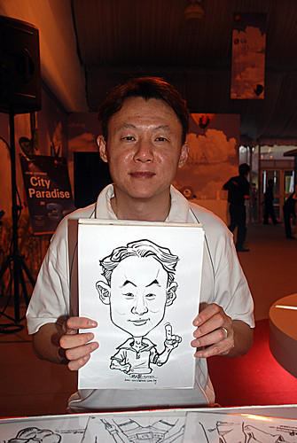 caricature live sketching for LG Infinia Roadshow - day 2 - 1