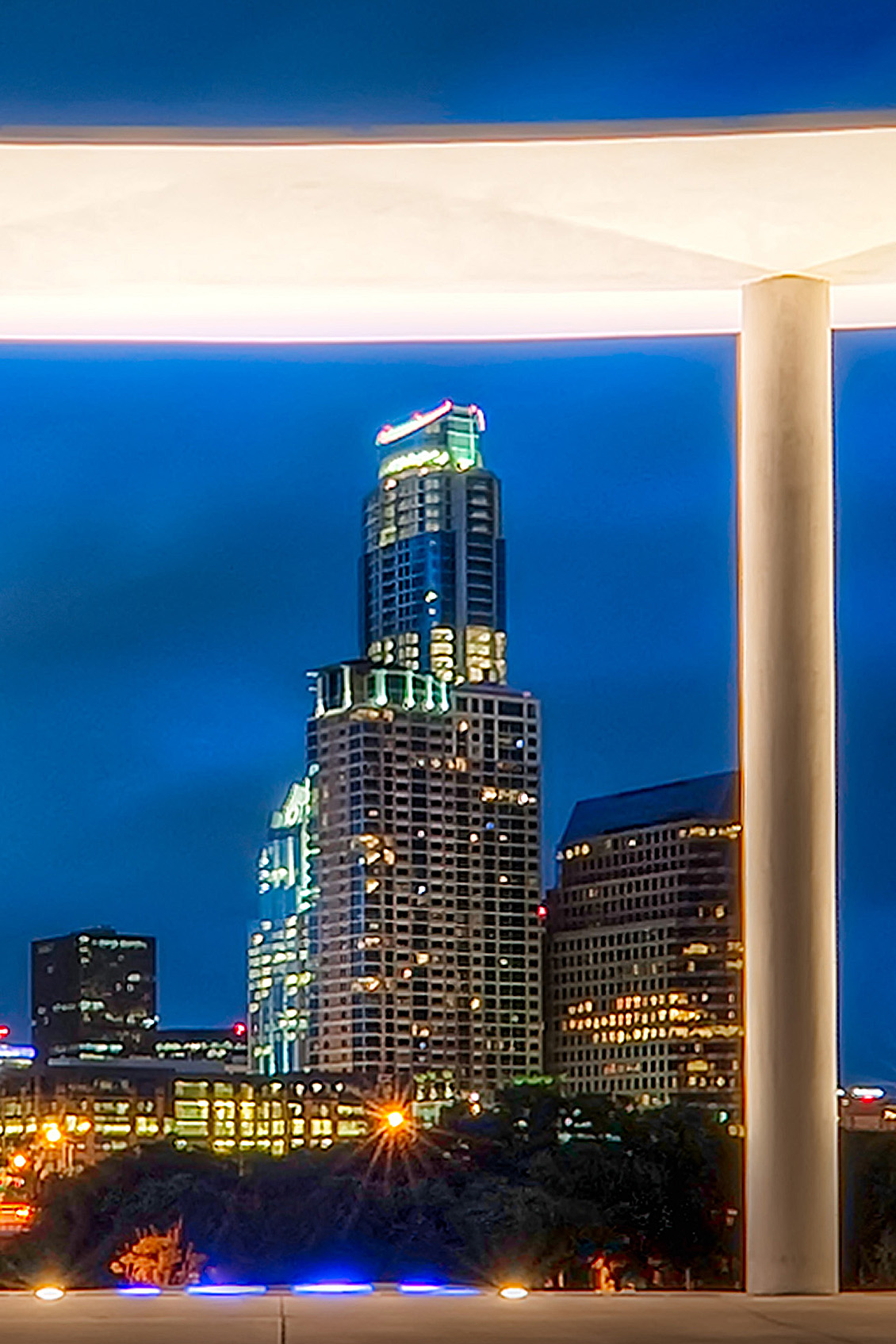 Crop of Austin Skyline from the Long Center;