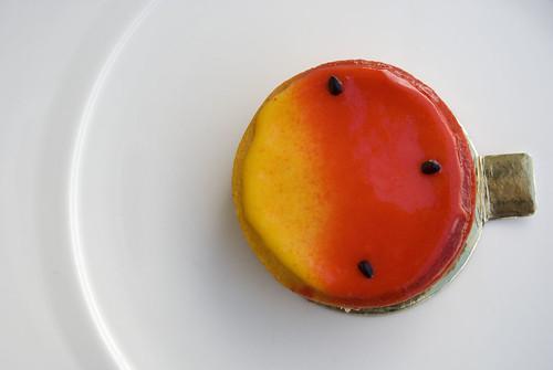 passionfriut tart above