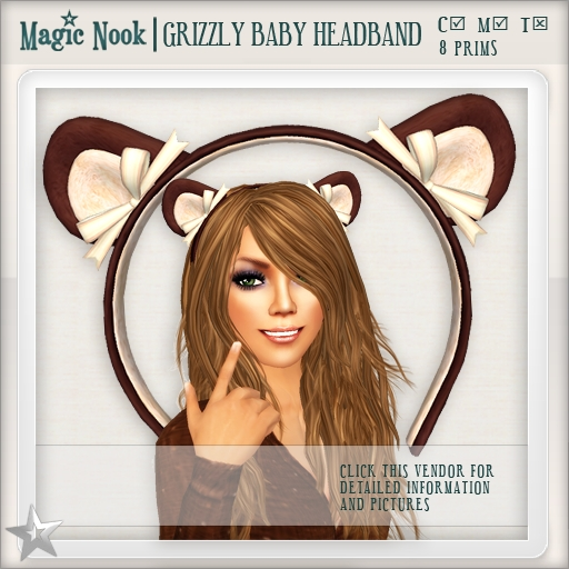 [MAGIC NOOK] Grizzly Baby Headband
