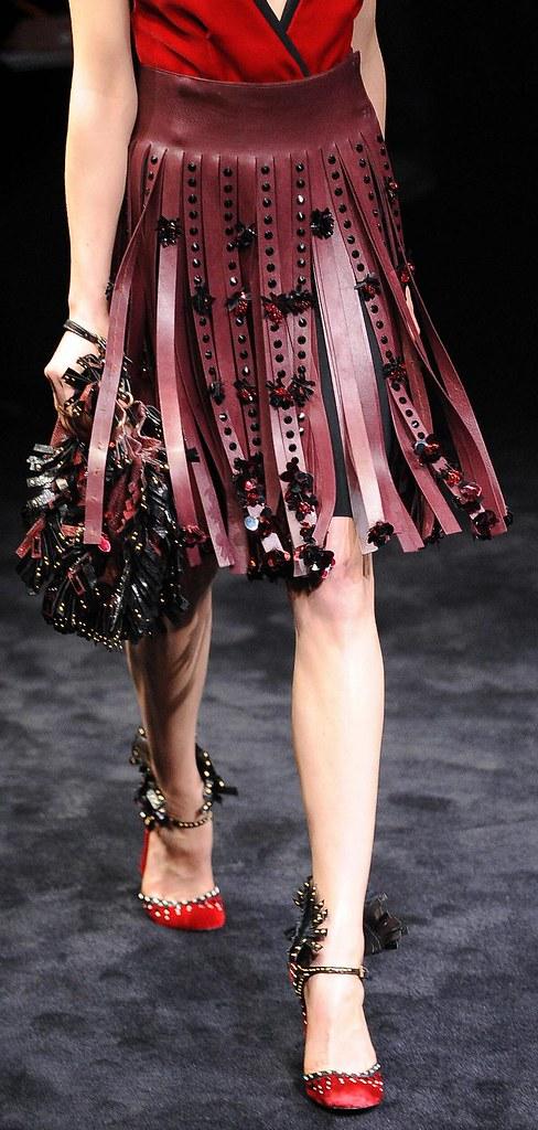 Prada FW2010 Centurion skirt