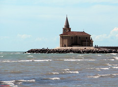 Fisherman´s church, Cáorle, Italy (DenesG1-still off, computerproblems) Tags: trip sea italy church water spring italia waves searchthebest excellent soe adriaticsea veneziagiulia topshots mareadriatico abigfave canons5is betterthangood thirdlife dragondaggeraward saariysqualitypictures denesg1 cáorle flickr´sportal