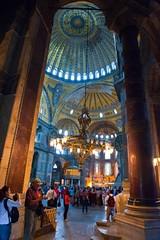 Interior of Hagia Sofia (Paul Swortz) Tags: work turkey istanbul hagiasofia 2010 swortz nikond700