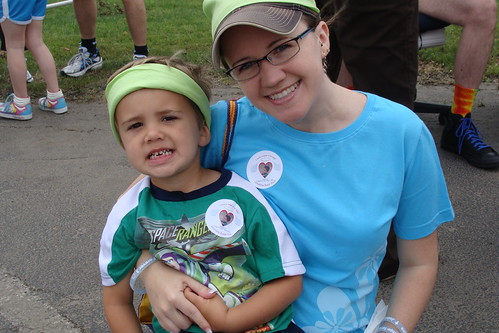 Mom and Noah at Cure Search Walk