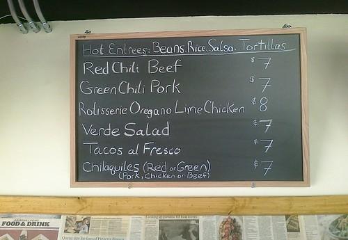Verde Mexican Food - Main Menu