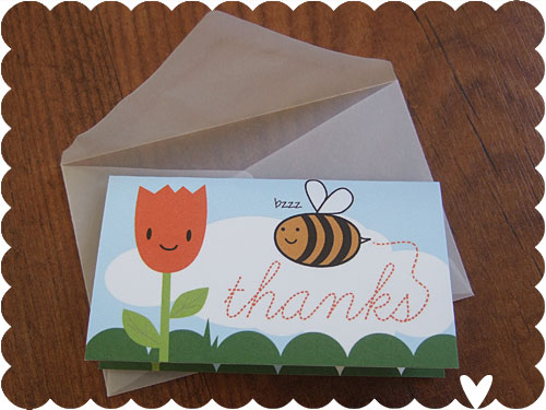Tiny Thank You Cards