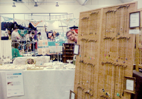 bazaar bizarre: booth + necklace wall!