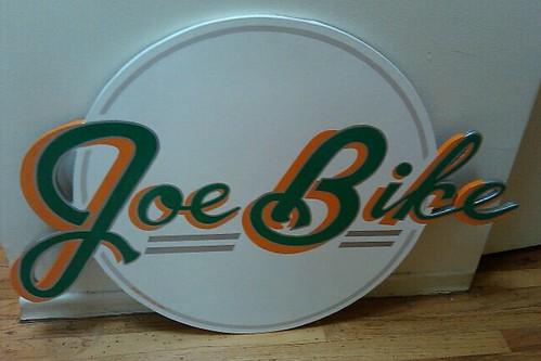 Joe Bike sign