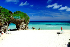 Sunayama beach (( _`) Sho) Tags: blue sea summer sky beach japan island paradise  okinawa   miyako         sunayama
