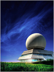 Sphere (Jean-Michel Priaux) Tags: sf light sky moon france art architecture modern night photoshop con