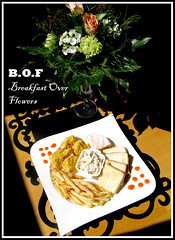 """B.O.F-Breakfast over Flowers"" oleh Dindy Pratama (Breakfast NCFPC) Tags: breakfast french fries ncc foodphotography chickennugget buttertoast ncfpc farmersalad landkse"