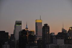Midtown @ Sunset (lbreiss34) Tags: nyc sunset bloombergbuilding citicorpbuilding nycatnight