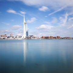 Spinnaker Tower - Portsmouth (Dale Hayter) Tags: seascape tower clouds harbour portsmouth spinnakertower spinnaker gosport