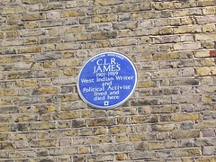 Photo of C. L. R. James blue plaque