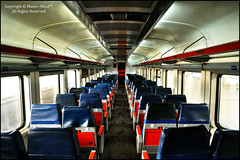 Full of Emptiness (Manic~Mind) Tags: blue red stilllife window lines train v