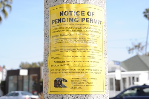 OPD Pending Permit Sign