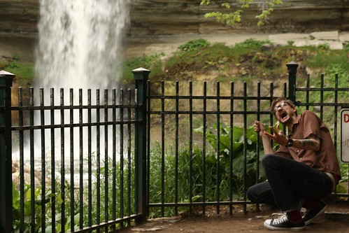 Dan, posing near the Minnehaha Falls