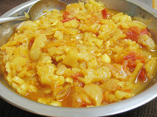 Teczcape: Bitter Melon Tomato Curry