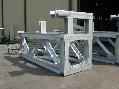 6' x 13 ½' Steel Pipe Support Structure