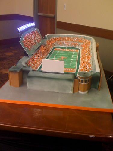 Texas Longhorn Stadium Cake