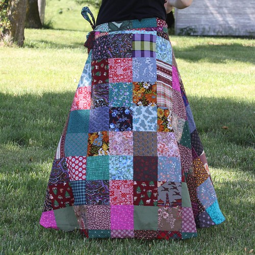 Long Festival Wrap Hippy Skirt