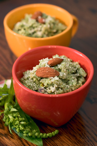 Risotto with Spinach and Almond Pesto